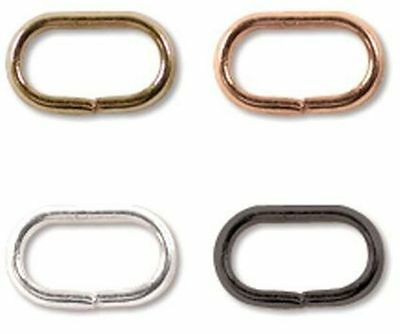 144 x Jump Ring Oval 5x8mm, choose from Silver, Gold, Copper or Black