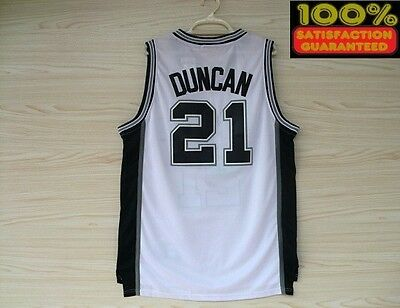 SPYRS Jersey Tim Duncan Road 21 Retro White Jersey Basketball USA Team Sports