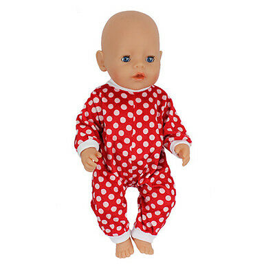 Red jumpsuit Doll Clothes Wearfor 43cm Baby Born zapf (only sell clothes )