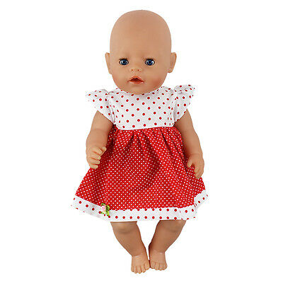 Red dot dress Doll Clothes Wearfor 43cm Baby Born zapf (only sell clothes )