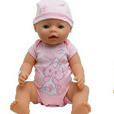 pink rabbit Clothes+hat Wearfor 43cm Baby Born zapf (only sell clothes )
