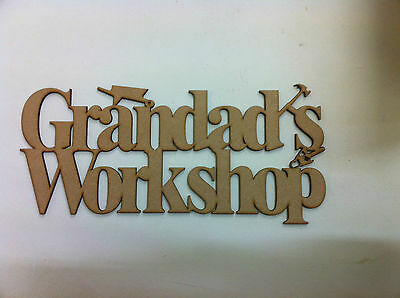 Grandads workshop sign gift shed fathers day S20