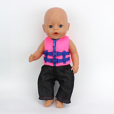 life jackets+pants Wearfor 43cm Baby Born zapf (only sell clothes )