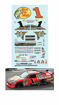 #1 Bass Pro Shops 2010 1/64 scale decal fits AFX TYCO Lifelike Autoworld