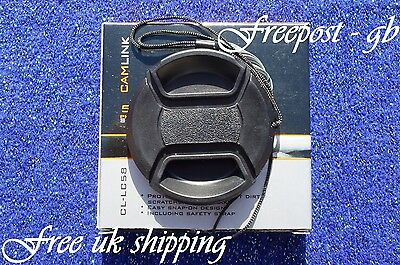 CAMLINK 58mm SNAP-ON LENS CAP WITH ATTACHMENT CORD  - NEW AND BOXED