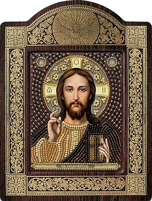 Christ the Savior   Religious Picture DIY Kit Icon Beaded Embroidery New