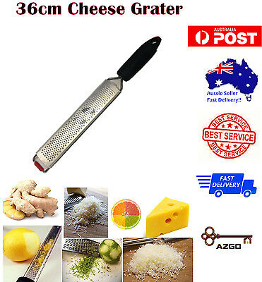 AZ SELLER 36cm Microplane Cheese Grater Zester Chocolate Ginger Slicer + cover