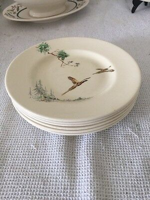 """Set Of Six Royal Doulton """"The Coppice"""" 6 1/2"""" Side Or Tea Plates"""
