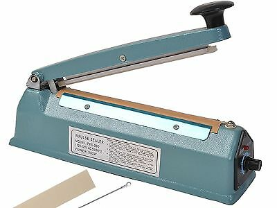 "Impulse Heat Sealer 100-400mm 4-16"" Metal Plastic Bodied Heat Sealer (Cutter)"