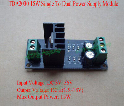 TDA2030 15W Single To Dual Power Supply Module Positive Negative Power Output