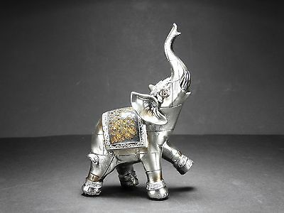 Indian candlestick polyresin elephant ornament home decor christmas gift picclick uk Silver elephant home decor
