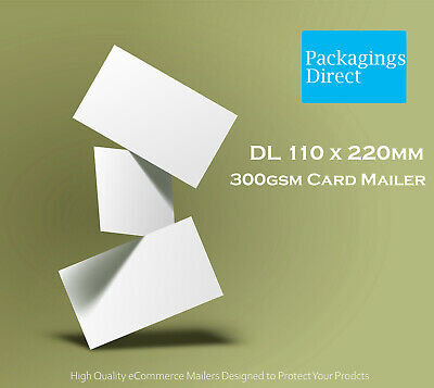 500 #DL Card Mailer 220x110mm 300GSM Envelope - DL Size Tough Bag Replacement