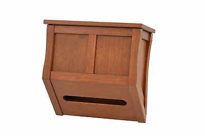 Wooden Hand Towels box. Mission style. Oak. NEW! TE-823