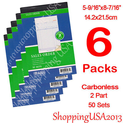 12 X Carbonless Sales Order Book Invoice Receipt Form 50 Set 2 Parts Duplicate**