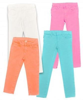 BNWOT Girls Joe Fresh Neon Skinny Jeans Cropped or Full Length Ages 4 - 6 Years