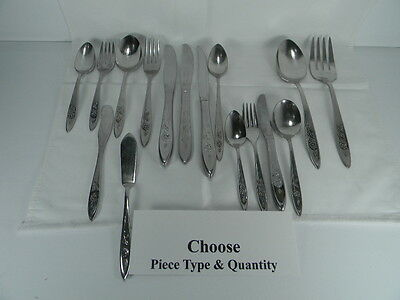 Oneida Community **my Rose** Stainless Steel Flatware-Your Choice