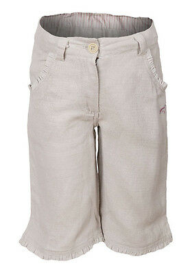 Bnwt Girls Cream Linen Cropped Trousers Adjustable Waist Ages 2 Years Only