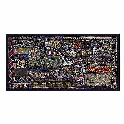 Vintage Tapestry Antique Indian Wall Art Bohemian Patchwork Wall Hanging