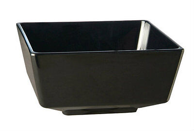 APS Float - Black Melamine Square Serving Dish with Polystyrene Cover/Lid