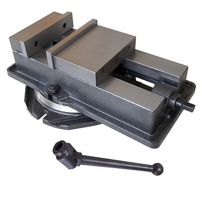 New 5 Inch Milling Machine Vise with Swiveling Base CNC Vise Hardened Metal