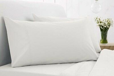 a pair Pure 100% COTTON white king PILLOW CASE 52x90cm-five star hotel std