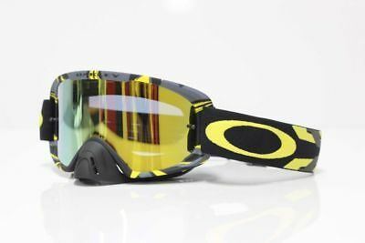 Oakley NEW 2016 O2 Mx Intimidator Yellow 24K Gold Iridium Lens Motocross Goggles
