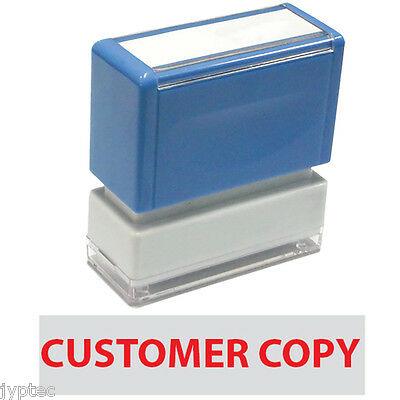 """JYP PA1040 Rectangle Stock Pre-Inked Rubber Stamp with """"Customer Copy"""""""