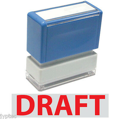 "JYP PA1040 Rectangle Stock Pre-Inked Rubber Stamp With ""Draft"""