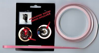 PINK Reflective Rim Tape Wheel Strip 6M x 7MM + Applicator Genuine 3M. rs-pink