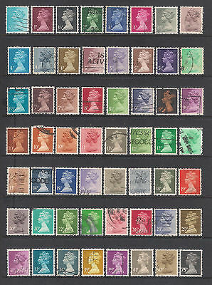 (UXGB011) GREAT BRITAIN UK QEII definitives stamps used to 75p