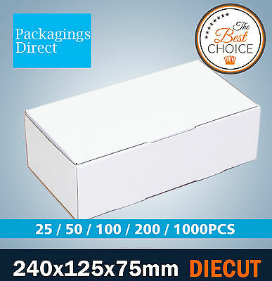Mailing Box 240x125x75mm Shipping Cardboard Carton for 500g Satchel Courier Bag
