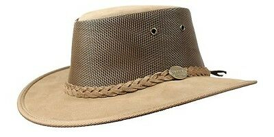 Barmah Foldaway Suede Cooler Leather Hat
