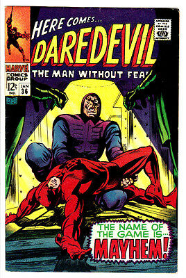 DAREDEVIL #36 (FN+) Doctor Doom! The Trapster! Classic Silver-Age Issue! 1968