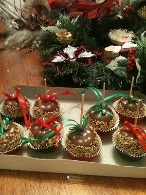 Handcrafted Carmel Apple Ornaments Small