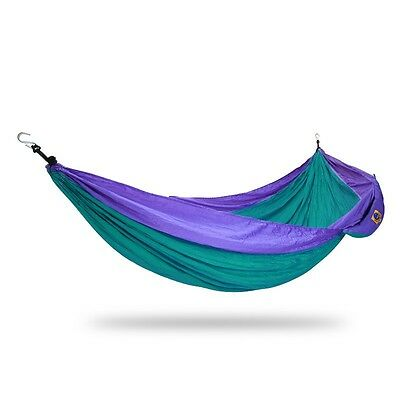 Ticket to the moon Single Hammock Green / Purple | Camping Outdoor Hiking
