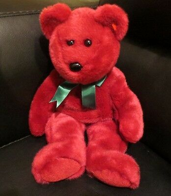 "Ty Beanie Buddy Cranberry The Bear 1998  14"" NO HANG TAG"