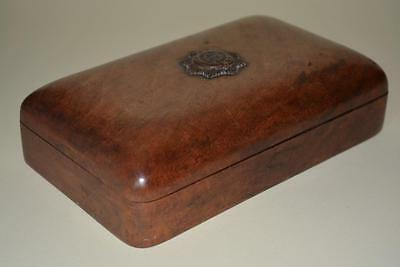 Royal Indian Army Service Corps Carved Wooden Cigarette Box