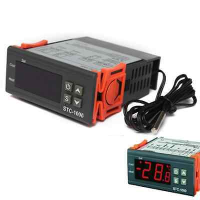 HOT 200V STC-1000 All-Purpose Temperature Controller Thermostat With-Sensor