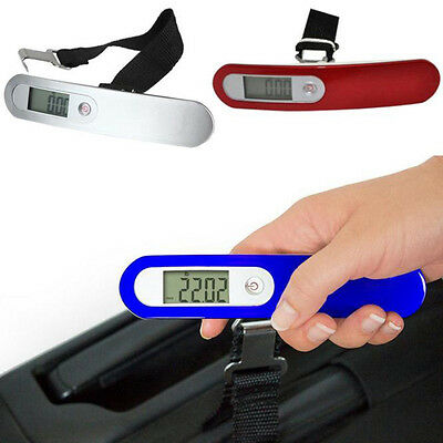 New 50kg/10g Electronic Portable LCD Digital Luggage Scale Travel Hanging Weight