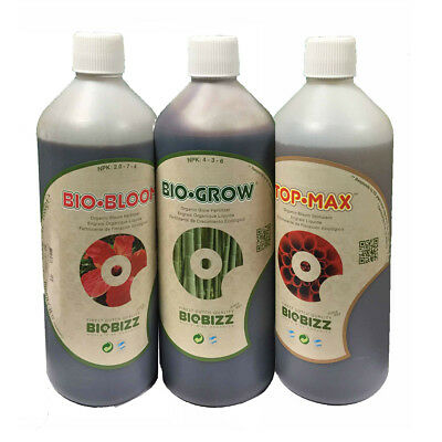 Biobizz Bio Grow, Bio Bloom And Topmax 1L Pack