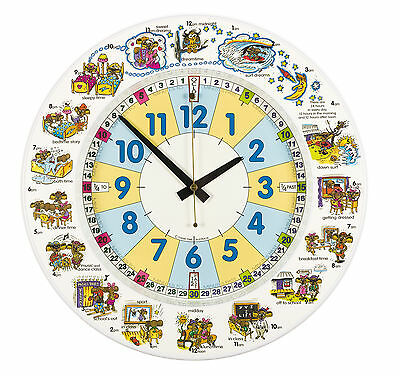 EasyRead Koalaclock. Ideal first clock. Learn about time and tell the time. 35cm
