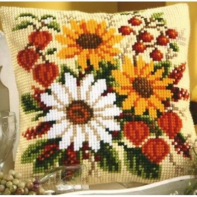 Vervaco - Cross Stitch Cushion Front Kit - Sunflowers & Daisies - 1200/959