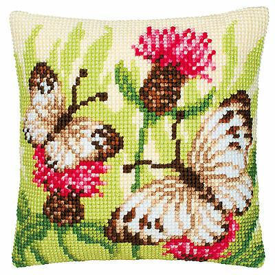 Cross Stitch Cushion Front Kit Yellow Butterfly Vervaco 1200//643