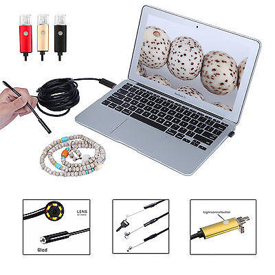 8mm Lens 6 LED Endoscope Borescope HD Inspection Wire Camera Android Tablet PC W