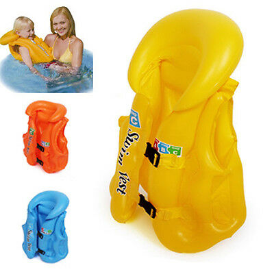 Baby Safety Swim Swimming Aid Inflatable Swim Vest 3 Colors