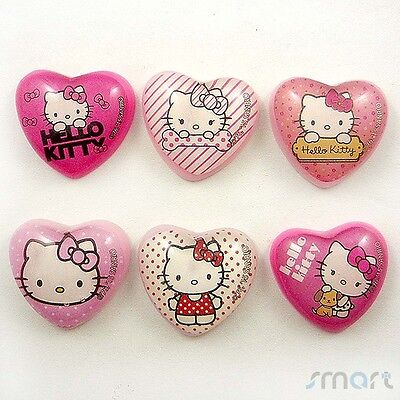 20pcs Mixed Resin Kitty Heart Flatback Cabochon Embellish Craft Hairbow Center