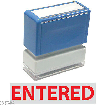 """JYP PA1040 Rectangle Stock Pre-Inked Rubber Stamp With """"Entered"""""""