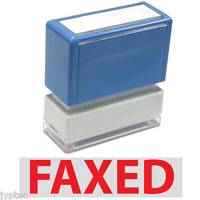 "JYP PA1040 Rectangle Stock Pre-Inked Rubber Stamp With ""Faxed"""