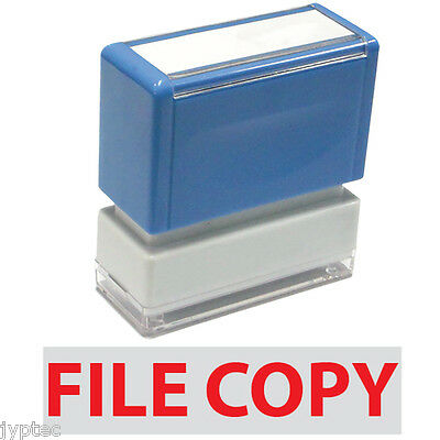 """JYP PA1040 Rectangle Stock Pre-Inked Rubber Stamp With """"File Copy"""""""