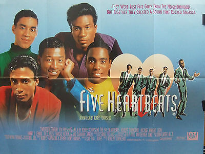 Robert Townsend THE FIVE HEARTBEATS(1991) Original  UK quad cinema poster